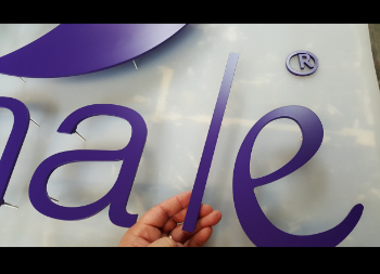 Purple 3D Letters for Indoor or Outdoor Sign Use