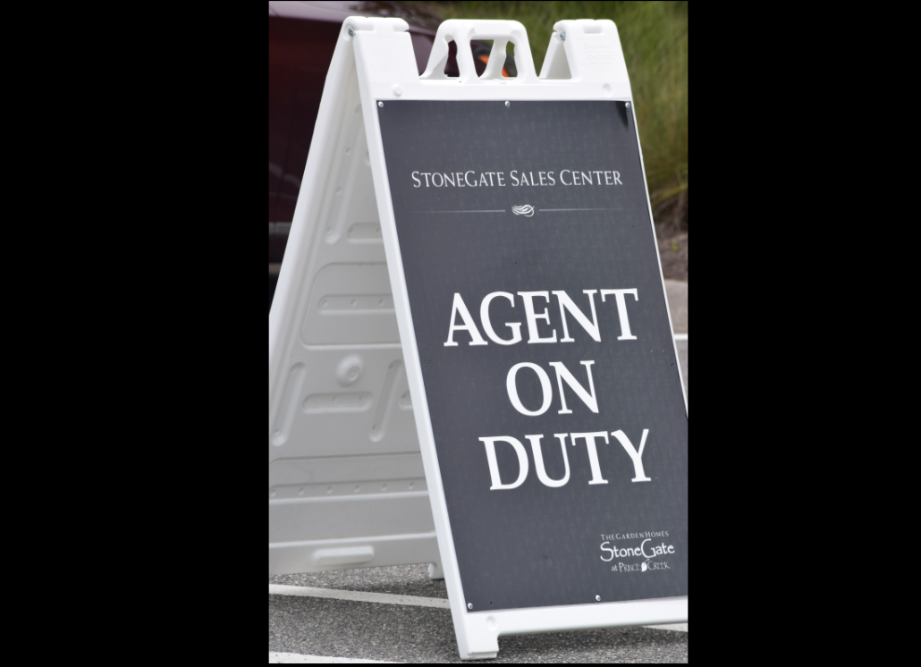 Real Estate Sidewalk Sign for Realty Agent