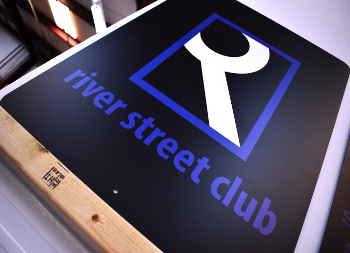 River Street Club Outdoor Alumalite Wall Sign