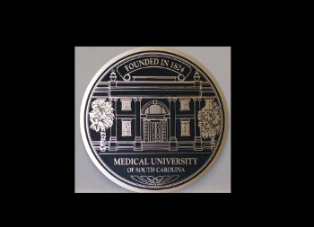 Engraved Metal Plaque Created for South Carolina Medical University