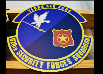 Military Unit Wall Logo on Outdoor Aluminum Signage with Full Color Graphic