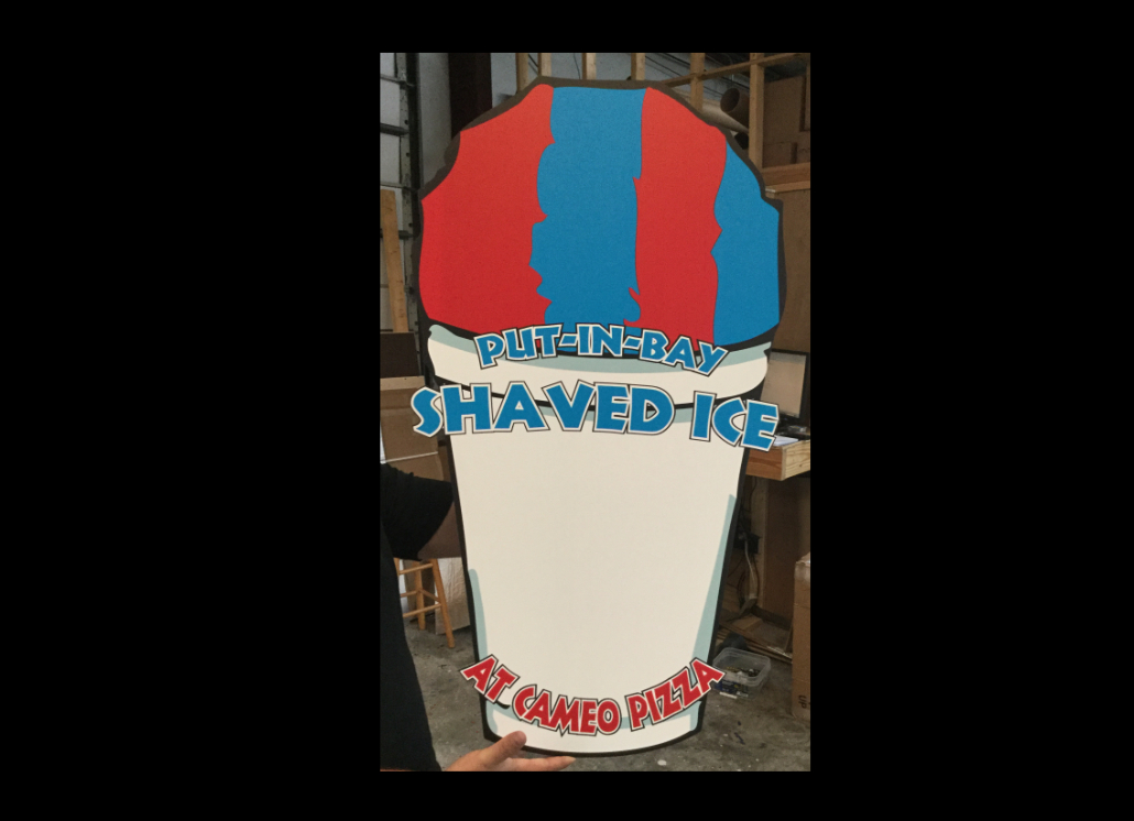 PVC Indoor Wall Sign Made of PVC for Shaved Ice