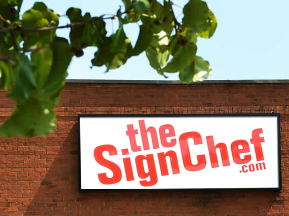 Photo of SignChef office building and production center front logo