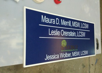 Jessica Wolber Armour-Wood Sign for Outdoor Signage
