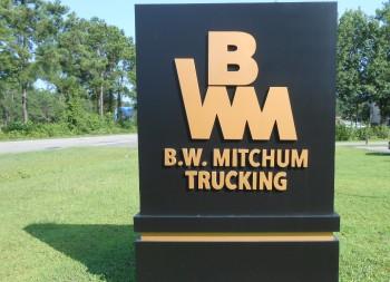 Custom 3D Roadside Monument Sign for B.W. Mitchum