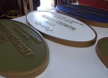Custom Carved HDU  Dimensional Plaques