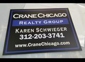 Crane Chicago Realty Metal Real Estate Sign