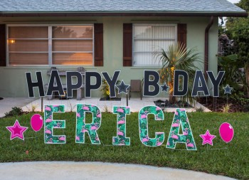 Coroplast Letters for Yard Birthday Signage Display