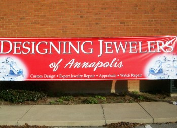 Designing Jewelers Outdoor Banner for Marketing