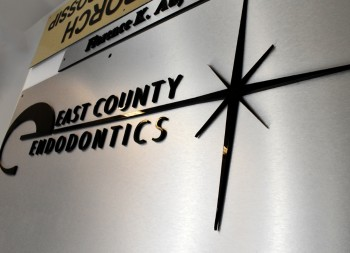 Brushed Aluminum Sign with 3D Letters and 3D Logo for Commercial Signage
