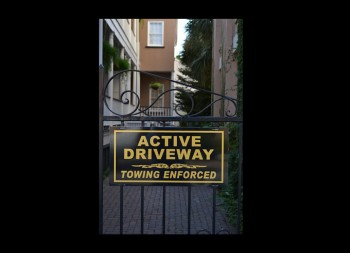 Driveway Fence Sign Made of Aluminum Material