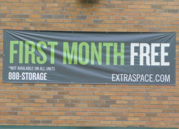 Custom Vinyl Banner for Extraspace's Commercial Business Marketing
