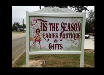 Framed Boutique Sign Advertisement Roadside
