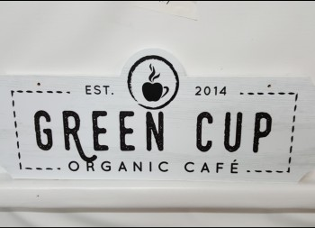 Organic Cafe Commercial Business Sign Made of Wooden Material
