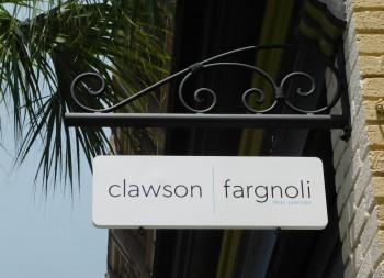 Clawson Fargnoli Wooden Hanging Brand Sign