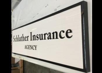 Sclather Insurance Business HDU Sign for Indoor or Outdoor Marketing