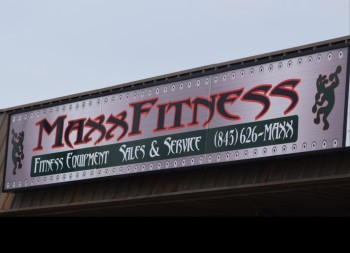 Replaceable Sign Face for Max Fitness Made of Lexan