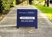 Open House Sidewalk Sign  Promoting Real Estate House Viewing