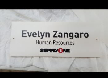 Engraved PVC Plastic Door Sign for Supply One Office Building