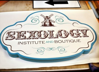 Boutique Custom Sign done in HDU for Hanging