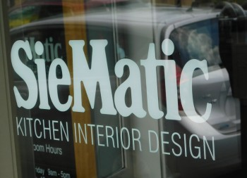 SieMatic Commercial Window Marketing done in Vinyl Letters