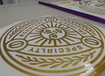 Vinyl Sun Graphic Decal Before Shipping