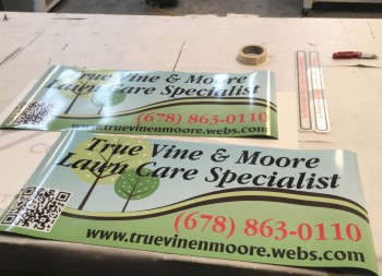 Custom Magnetic Vehicle Sign for Lawn Care Business