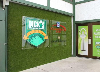 Two Indoor Acrylic Signs for Dick's Sporting Goods