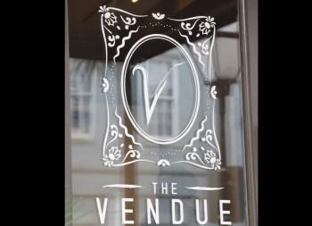 Window Vinyl Letter Design for Vendue's Commercial Marketing