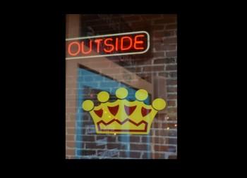 Crown Design Business Window Decal in Vinyl