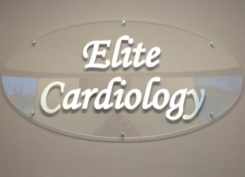 Elite Cardiology Plastic Wall Sign for Business Office