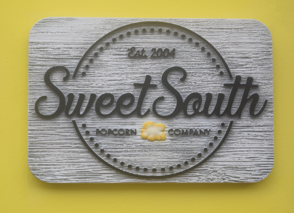 Sweet South HDU Signage for Popcorn Company