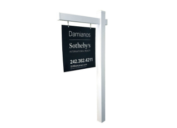 Hanging Real Estate Sign Post