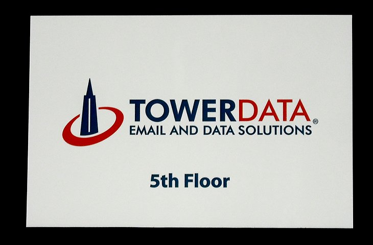 Towerdata signage made with PVC sign material