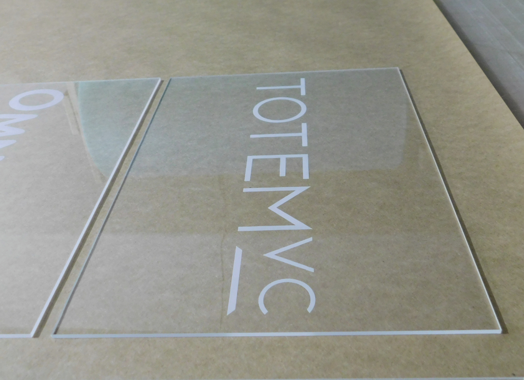 Totem Company Engraved Plastic Signage for Wall