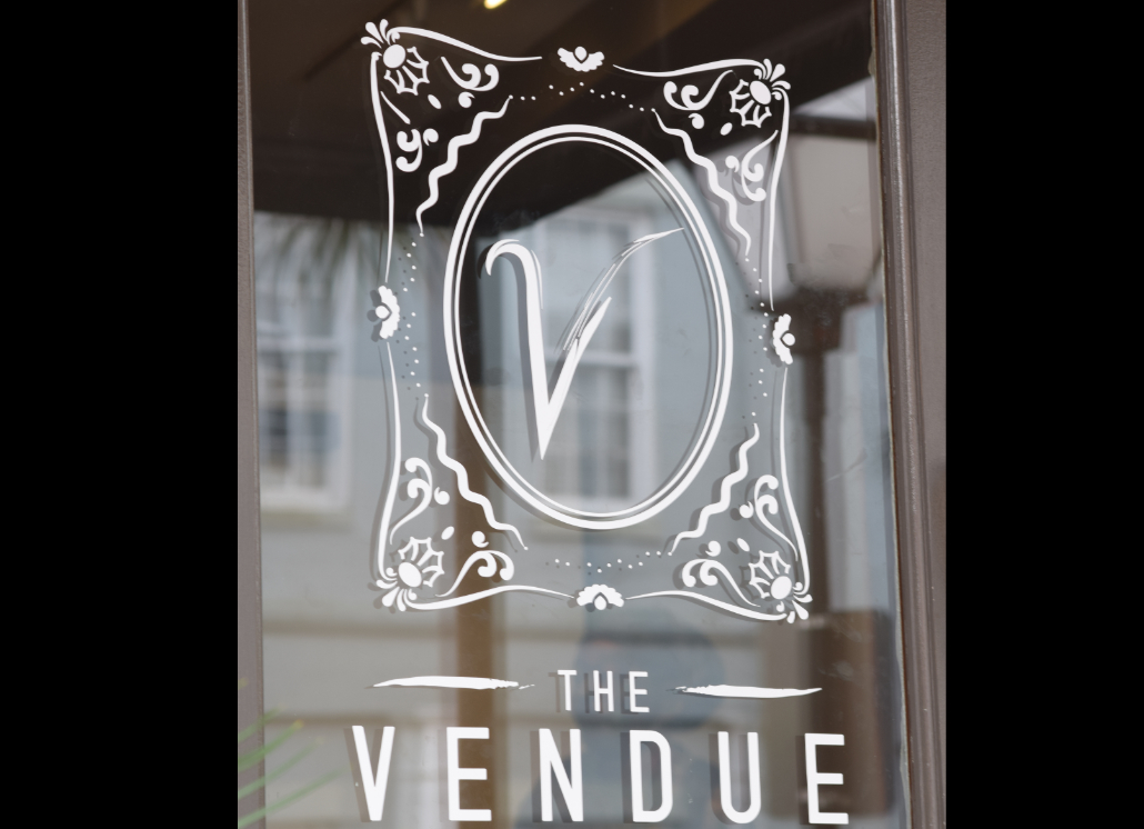 Window Vinyl Letter Design for Vendue's Commercial Marketing