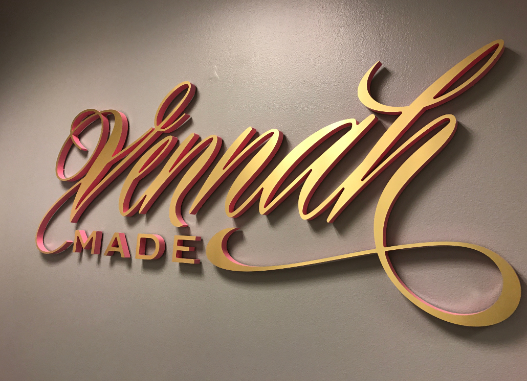 Vennah Wall Sign Made of 3D Wooden Letters