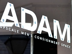 Commercial Vinyl Letters that spell ADAM for Business Marketing