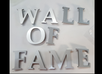 Silver Colored 3D Acrylic Letters for Walls or Signs