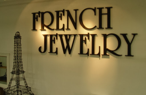 Wooden 3D Letters with text that reads: French Jewelery