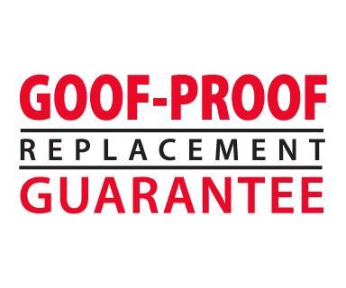 Goof Proof Guarantee logo