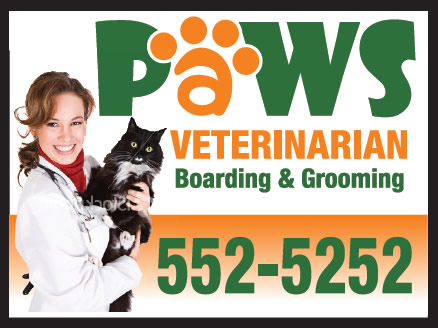 Paws Veterinarian Custom Sign with Border